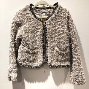 ZARA KIDS fuzzy tweed blazer